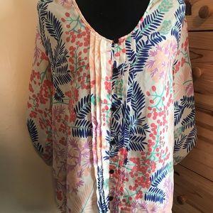ANTHROPOLOGIE YUMI KIM floral blouse